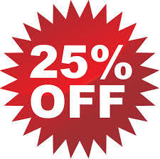 25% off training